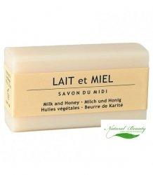 SAVON DU MIDI Prowansalskie mydło z masłem karité LAIT et MIEL/mleko i miód