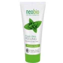 Neobio Peeling do twarzy z bio-miętą i bio-oliwą