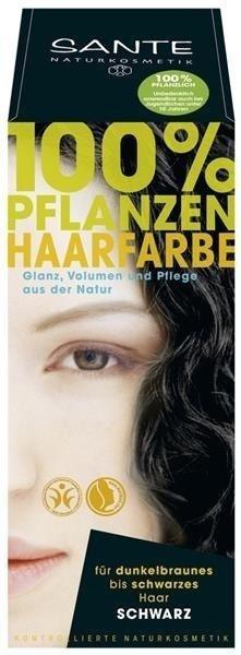 Sante Naturkosmetik Roślinna farba do włosów w proszku SCHWARZ / czarna