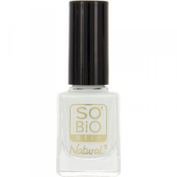 SO BIO Naturalny lakier do paznokci SO BiO naturalny lakier do paznokci 12 Blanc French z bio-olejem rycynowym  10 ml