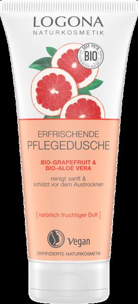 Logona Odświeżający żel pod prysznic z bio-grapefruitem i bio-aloesem