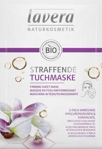 Lavera maska w płacie PRZECIWZMARSZCZKOWA - Kwas hialuronowy i olej Karanja, 21 ml