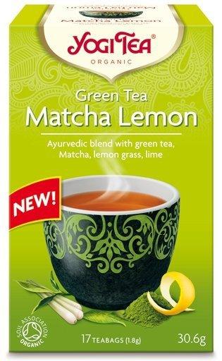 YOGI TEA Ajurwedyjska herbata Zielona Matcha z cytryną GREEN TEA MATCHA LEMON