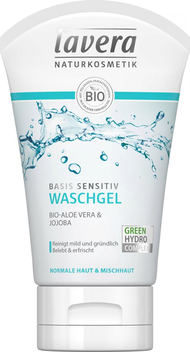 Lavera BASIS SENSITIV Żel do mycia twarzy z bio-aloesem i jojobą 125  ml