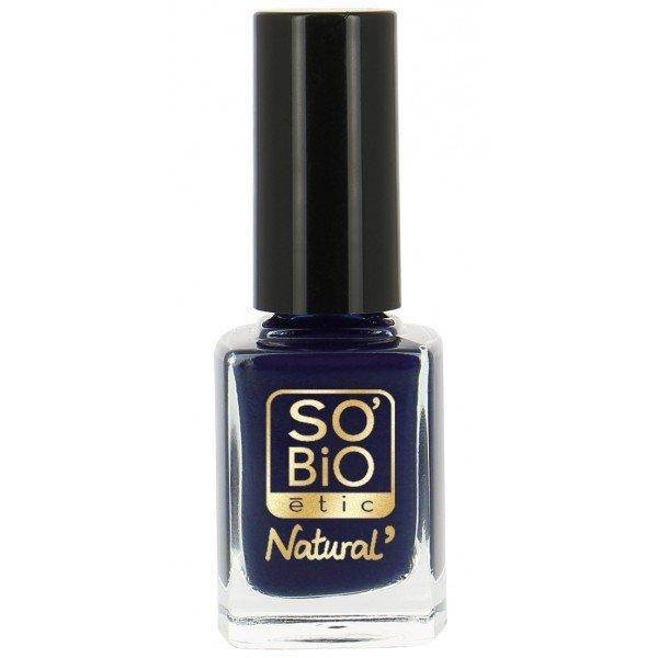 SO BIO Naturalny lakier do paznokci 13 Bleu Denim z bio-olejem rycynowym10 ml