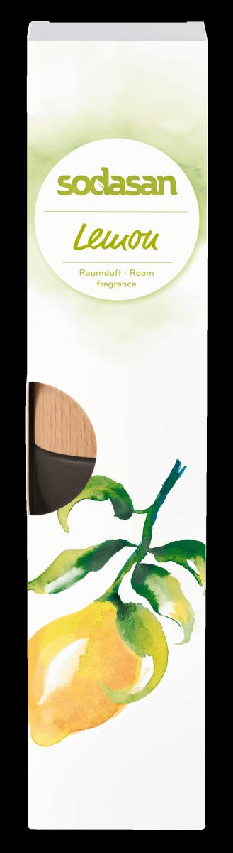 sodasan Naturalny Odświeżacz powietrza CYTRYNA z patyczkami BIO 200ml