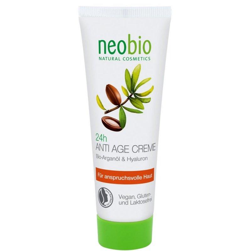 Neobio Anti Age Krem przeciwzmarszczkowy 24h z olejkiem arganowym i kwasem hialuronowym