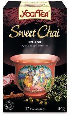 YOGI TEA Ajurwedyjska herbata korzenna SŁODKI CZAJ (Sweet Chai)