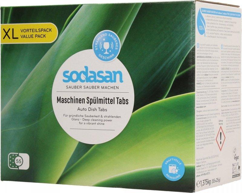 Sodasan Tabletki ekologiczne do mycia w zmywarkach 55szt
