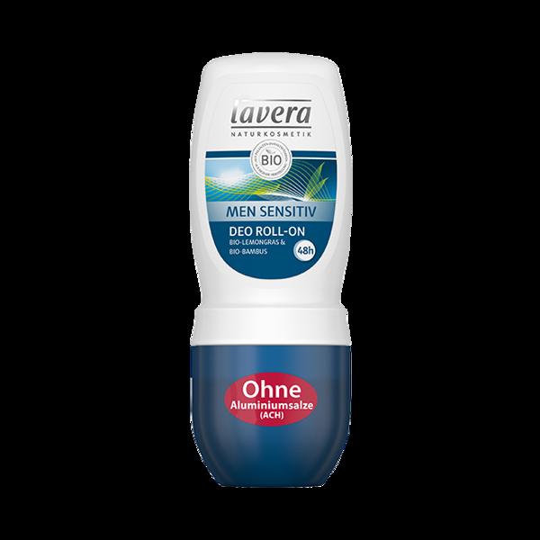 Lavera MEN SENSITIV 24 h dezodorant roll-on z bio-bambusem i bio-trawą cytrynową