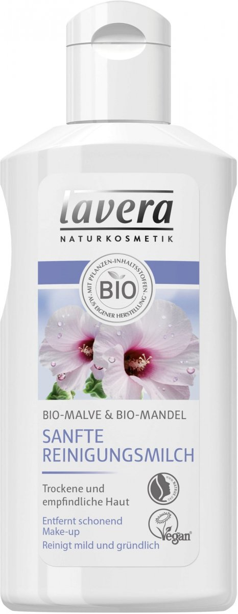 Lavera Naturalne łagodne mleczko do twarzy z wyciągiem z bio-malwy i bio-migdałów 125 ml