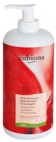 eubiona Szampon z pokrzywą i granatem do włosów przetłuszczających się 500 ml