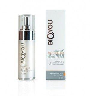 BIO2YOU rewitalizujący krem przeciwzmarszczkowy pod oczy z kolagenem, kwasem hialuronowym, aloesem, olejem kokosowym 20 ml.