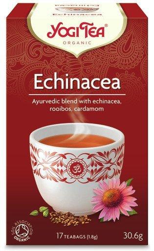 YOGI TEA Herbata ECHINACEA z rooibosem i kardamonem (Echinacea)