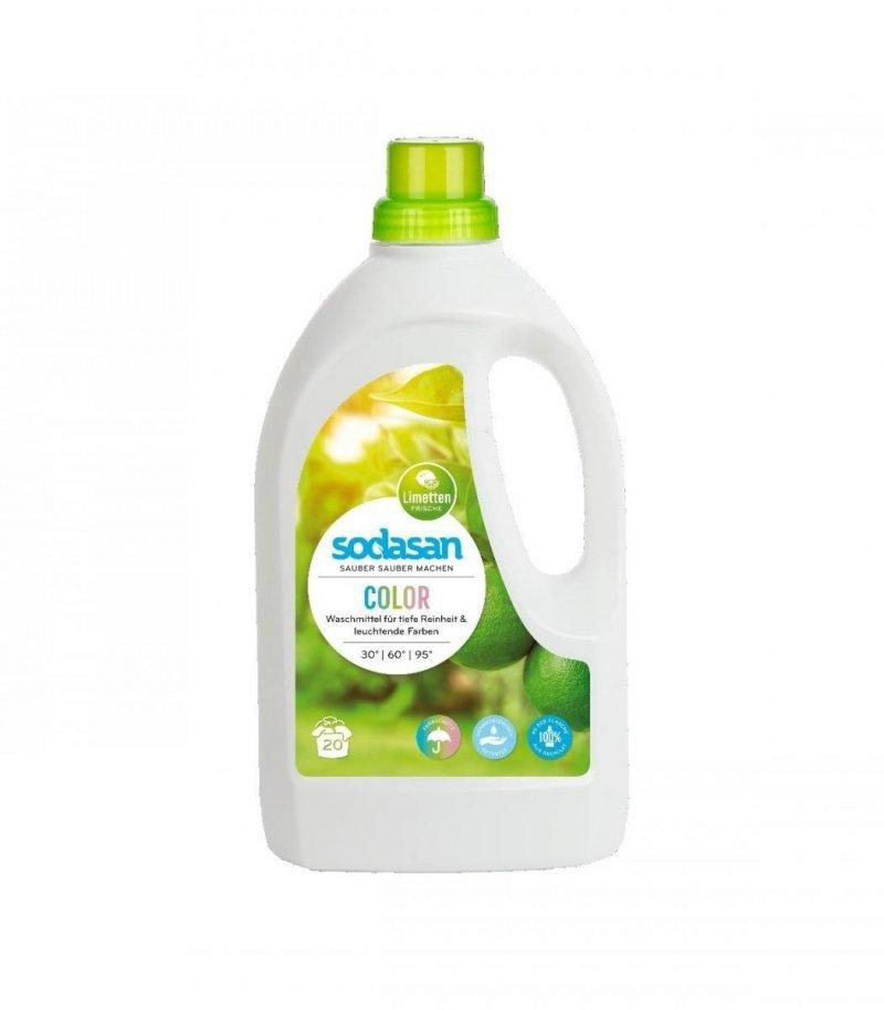 Sodasan Uniwersalny ekologiczny płyn do prania Kolor  Limonkowy1,5l.
