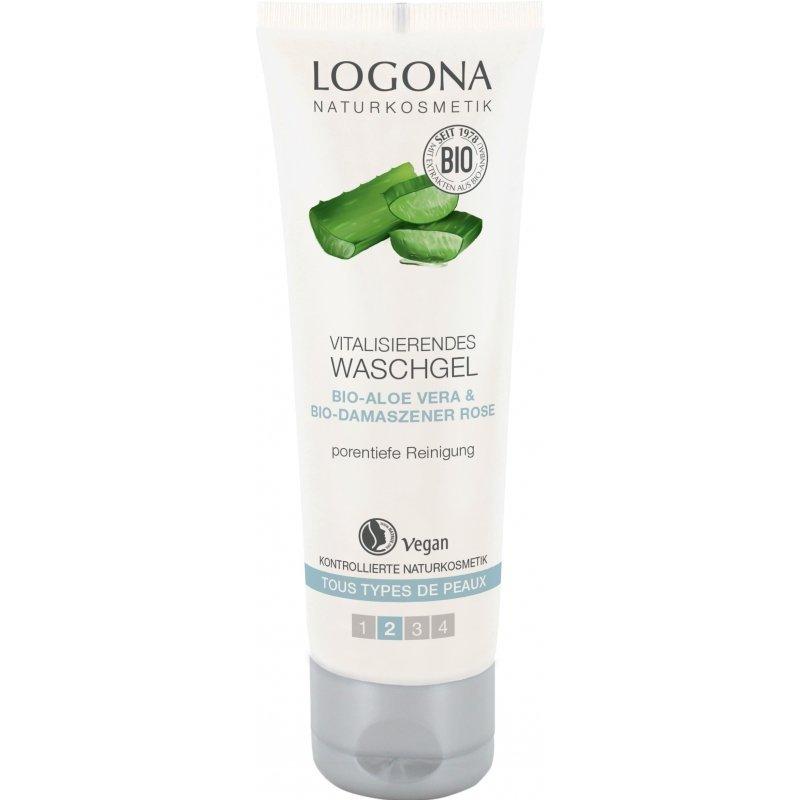 Logona Rewitalizujący żel do mycia twarzy z bio alesem