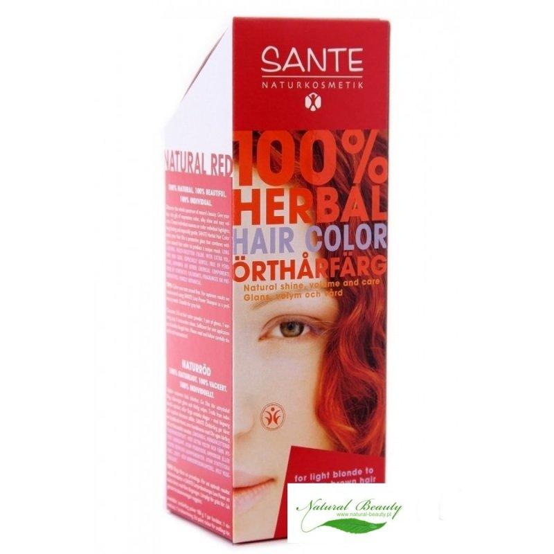 Sante Roślinna farba do włosów w proszku naturalna czerwień