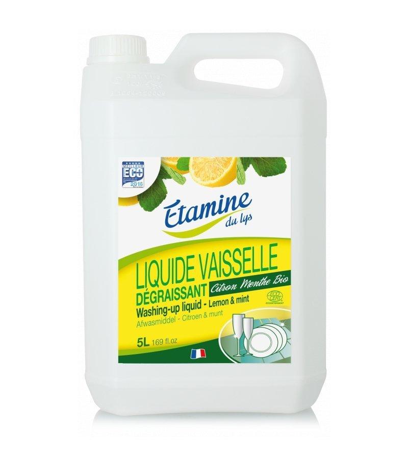 EDL Etamine Du Lys płyn do mycia naczyń z organiczną cytryną i miętą 5 l