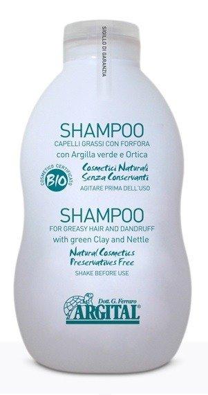 Argital Naturalny Szampon do włosów przetłuszczjących się i przeciwłupieżowy 500 ml.