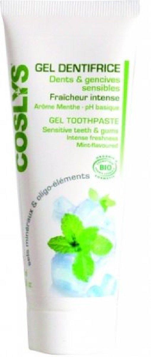 Coslys miętowy żel do mycia wrażliwych zębów i dziąseł 75 ml