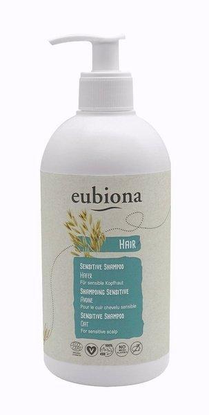 Eubiona Bezzapachowy szampon z owsem do wrażliwej skóry głowy 500 ml