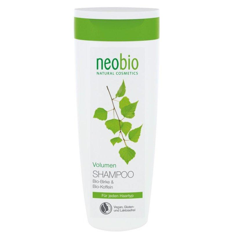 Neobio Szampon zwiększający objetość włosów z bio kofeiną i wyciągiem z brzozy 250ml