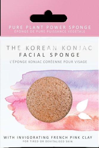 Konjac Sponge Company Gąbka Konjac do mycia twarzy z rumiankiem do cery wrażliwej i podrażnionej
