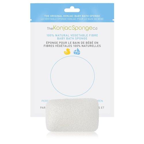 Gąbka Konjac Baby do mycia twarzy, ciała i włosów dla starszych dzieci prostokątna 100% czysty Konjac