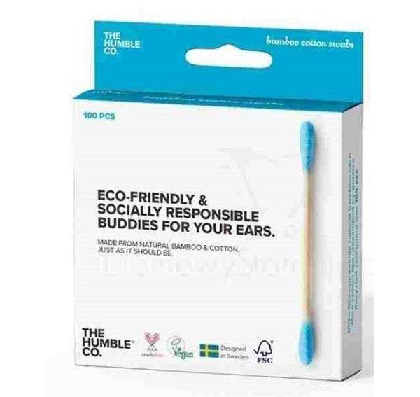 Humble Brush Patyczki higieniczne, bambusowe niebieski 100 szt.