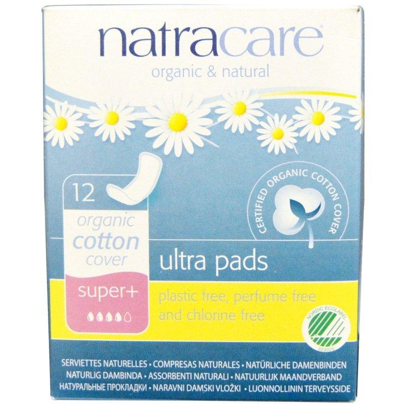 Natracare ekologiczne podpaski higieniczne super plus bez skrzydełek 12 szt.