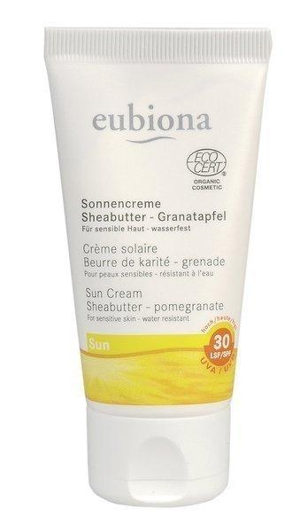 eubiona Krem przeciwsłoneczny LSF/SPF 30 z masłem shea i owocem granatu 50 ml