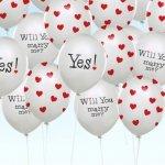 Balony z napisami Ślubnymi