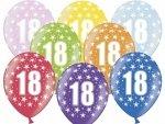 Balony na 18-stke w gwiadki metalik 1 szt