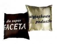 Poduszka malowana satynowa Dla Super FACETA 1szt