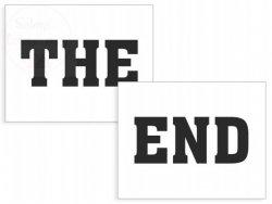 Naklejki na buty THE END!  2szt NB7
