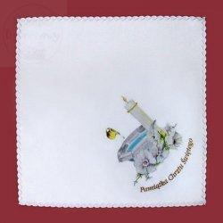 Szatka do chrztu bawełniana z kolorowym nadrukiem