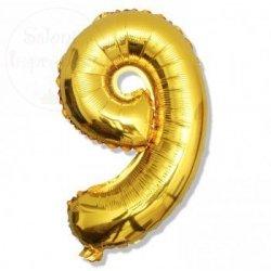 Balon foliowy złoty 40 cm - 9