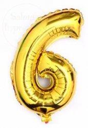Balon foliowy złoty 40 cm - 6