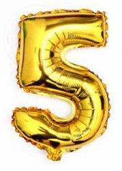 Balon foliowy złoty 40 cm - 5