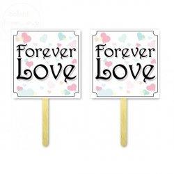 Tabliczki do fotobudek  Forever LOVE