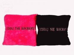 Poduszka skwadrat Dzisiaj Tak / Nie KOCHANIE P2877