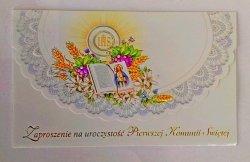 Zaproszenie komunijne dla dziewczynki 1szt