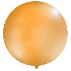 Balon 1 m pastel okrągły pomarańczowy 1 szt