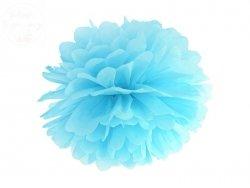 Pompon bibułowy błękitny 35cm 1szt