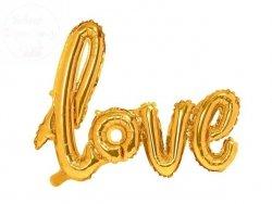 Balon foliowy Love 73x95 cm - złoty