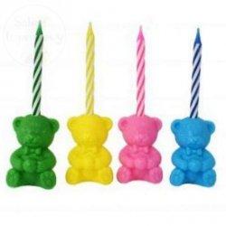 MISIE - zestaw 4 świeczek + 4 dekoracji