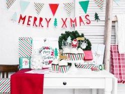Girlanda Merry Xmas - Chorągiewki 1,3m