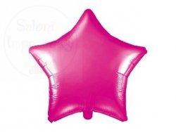 Balon foliowy Gwiazdka ciemny róż 48 cm