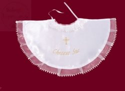 Szatka pelerynka chrzcielna biała + złoty haft
