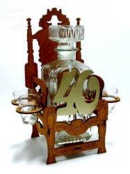 Karafka Tron 40 Urodziny + 4 kieliszki
